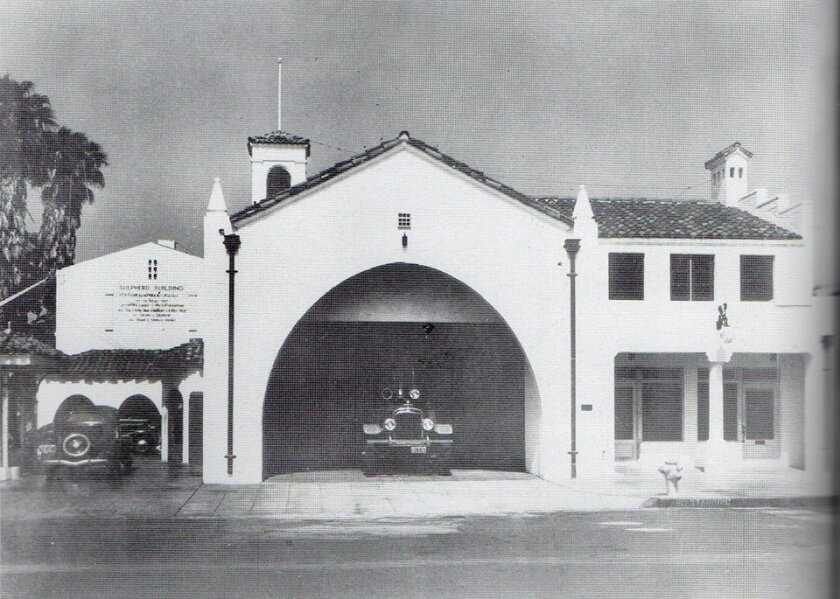 Fire Station 13, a San Diego historic landmark, was built in 1937 as part of the Works Project Administration (WPA), two years after the nearby Wall Street Post Office (another WPA building) was built.