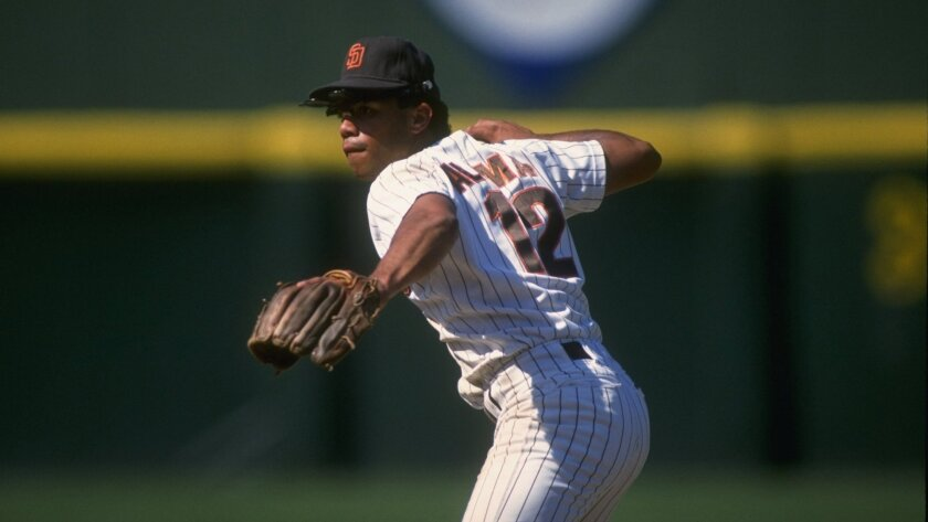 Roberto Alomar, pictured here in 1989, started his Hall of Fame career as a Padre before being traded.