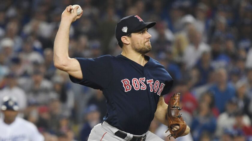 World Series - Boston Red Sox v Los Angeles Dodgers - Game Three