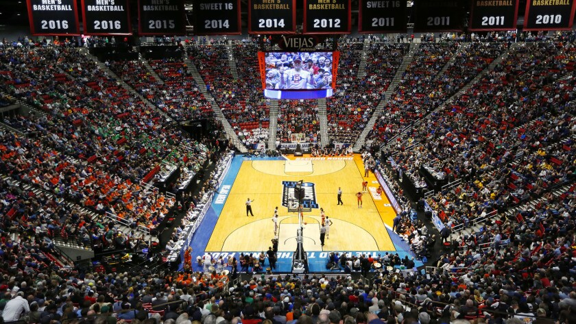 Clemson plays Auburn during the NCAA Tournament in 2018 at Viejas Arena.