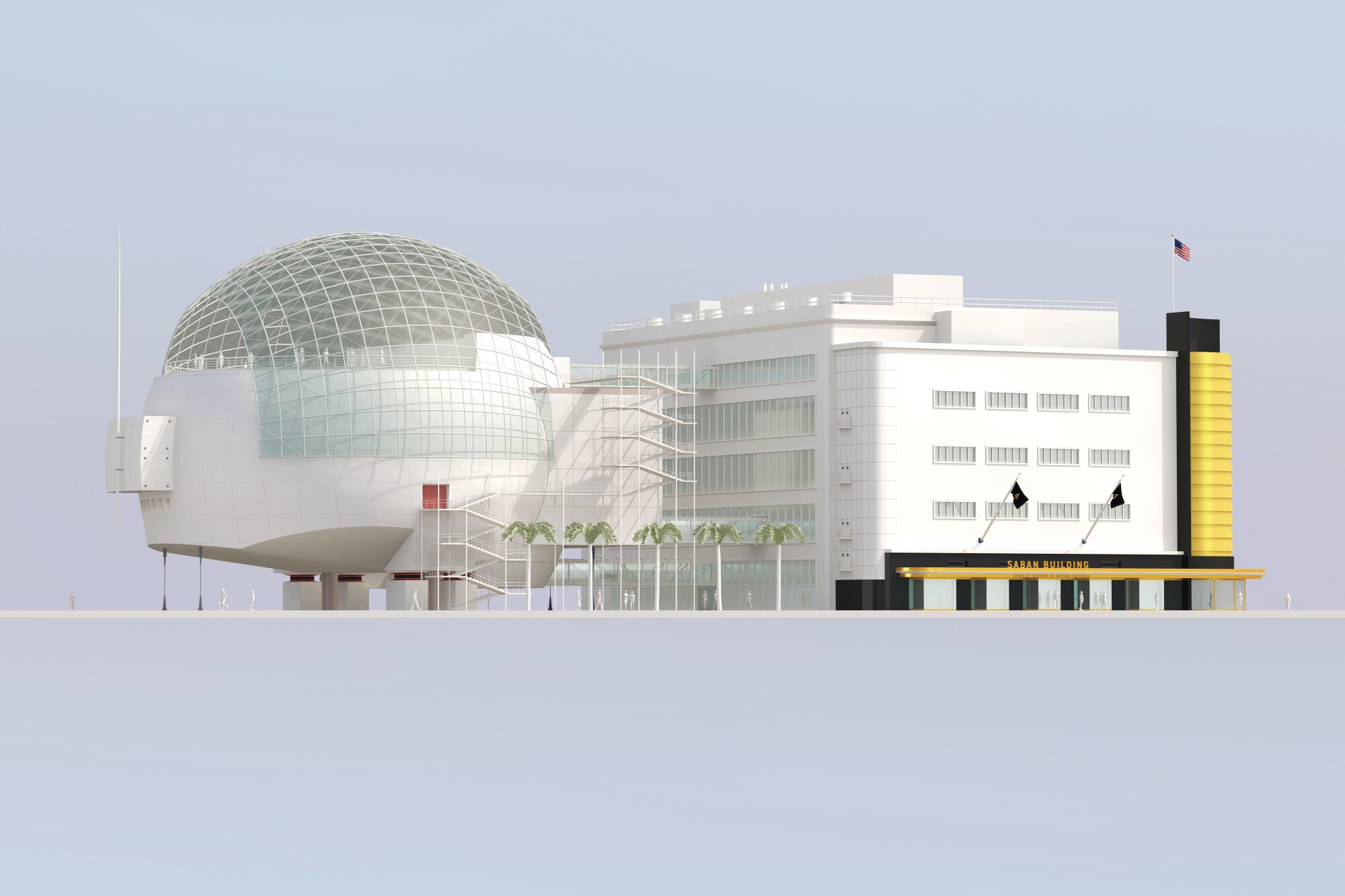 Illustration of the Academy Museum of Motion Pictures