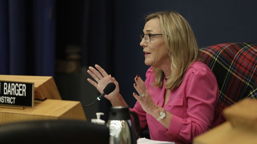 LOS ANGELES, CA-JANUARY 29, 2019: LA County Board of Supervisors member Kathryn Barger speaks and as