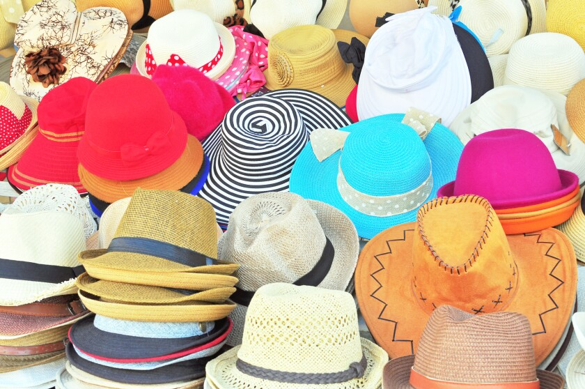 Variety of hats