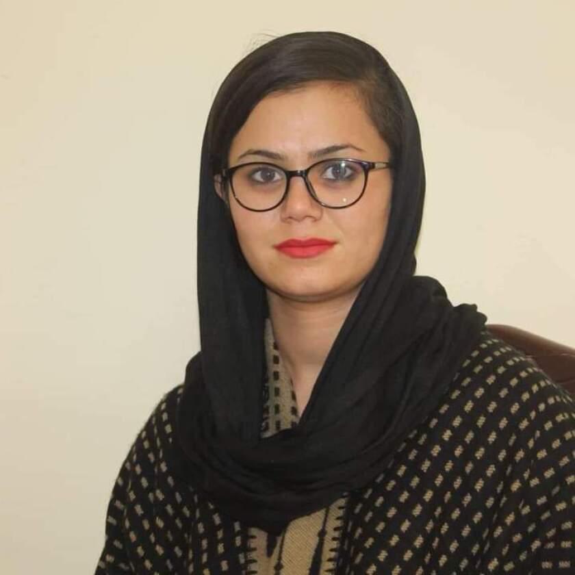 Afghan journalist Tamana Bahar