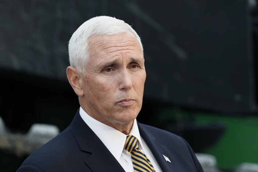 Vice President Mike Pence in Waukee, Iowa, on Oct. 9.