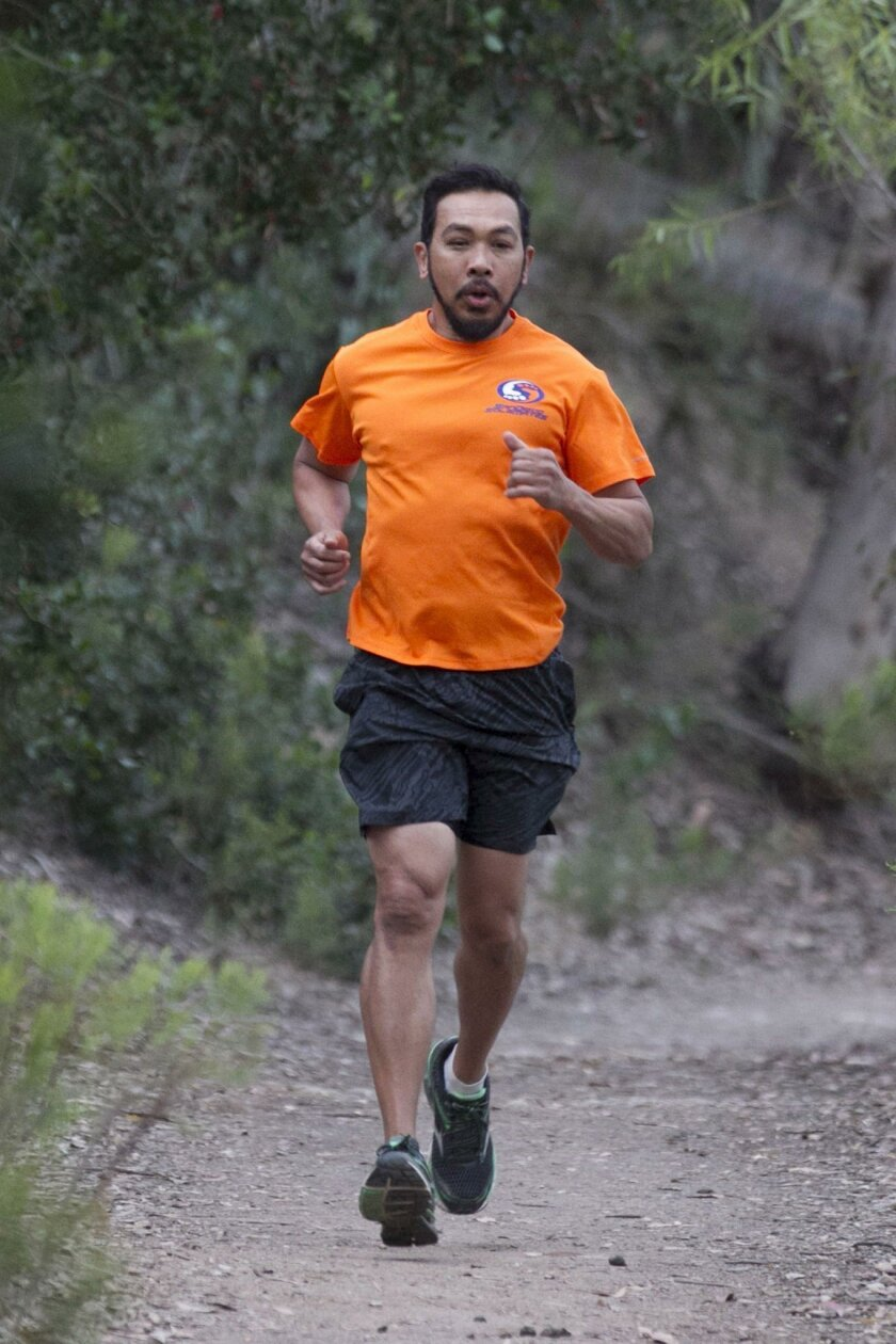 Dan Nodalo runs three mornings a week. The distance for each run ranges from 5 to 10 miles.