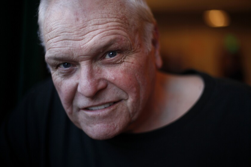 LOS ANGELES, CA - NOVEMBER 07, 2013: Actor Brian Dennehy after he did a run through with a script fo
