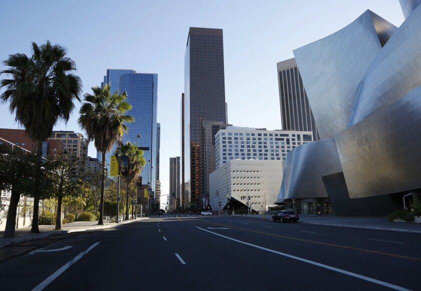 Grand Avenue, downtown Los Angeles