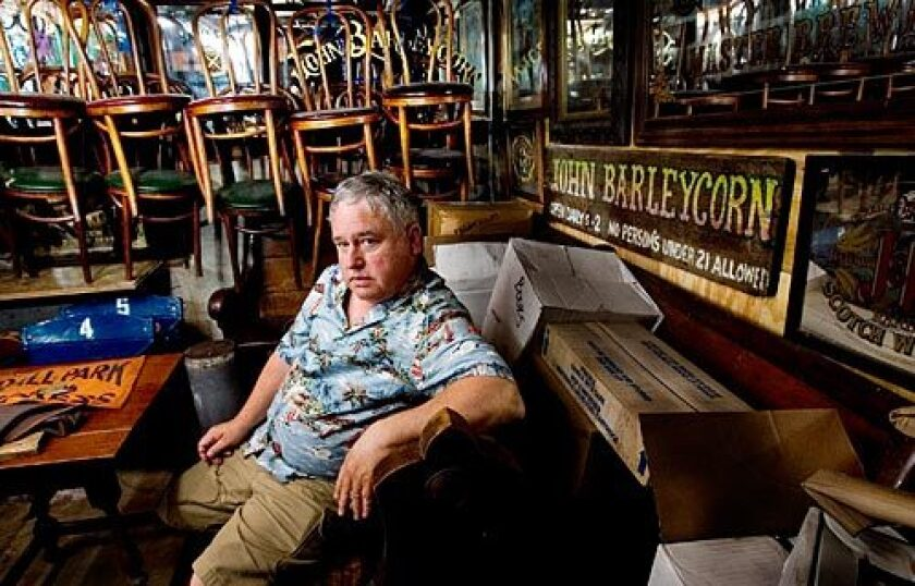 Larry Ayre, former owner of the John Barleycorn, a San Francisco landmark until it was closed last year, has stored some of the bar memoriabilia in his home, Monday, April 21, 2008.