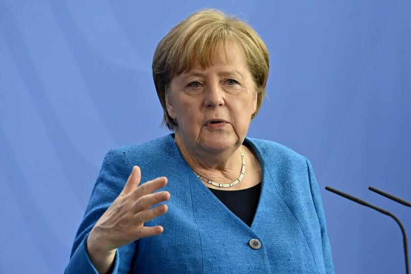 La canciller de Alemania Angela Merkel