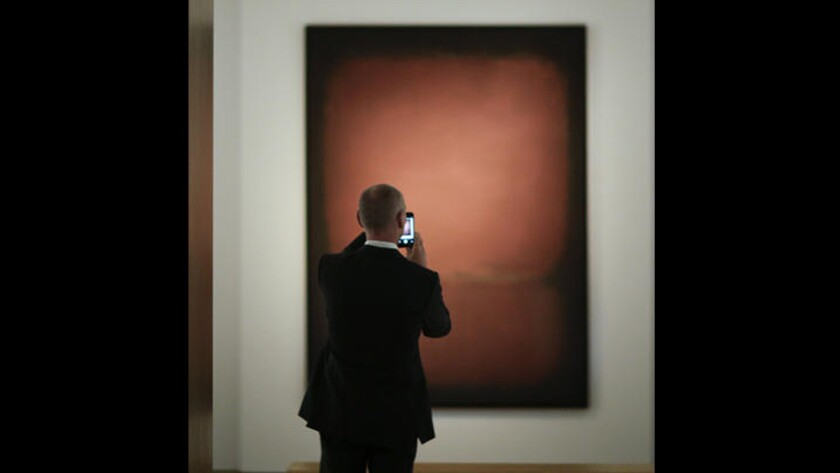 """A 1958 Rothko canvas titled """"No. 10"""" fetched $81.9 million at a Christie's auction in New York on Thursday."""
