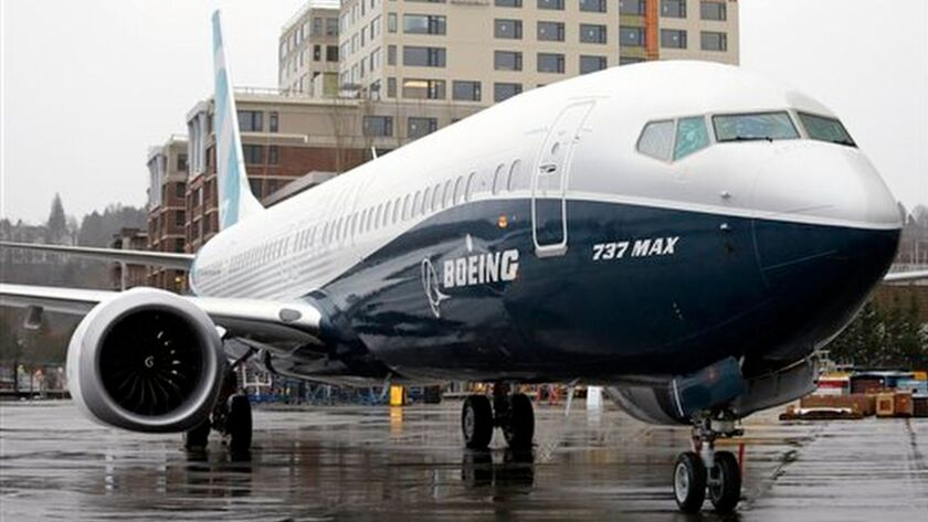 FILE - In this March 7, 2017 file photo the first of the large Boeing 737 MAX 9 models, Boeings newe