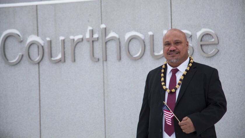 John Fitisemanu, an American Samoan, is the lead plaintiff in a lawsuit against the United States seeking full citizenship.