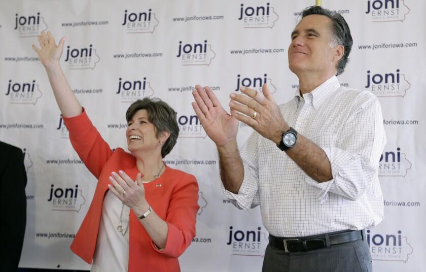 Mitt Romney, Joni Ernst