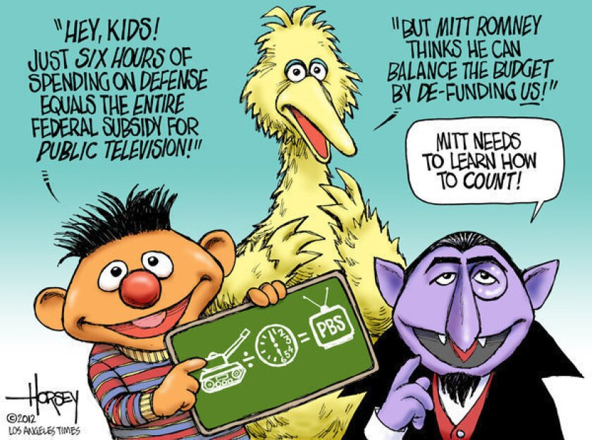 Sesame Street tutors Mitt Romney in budget math