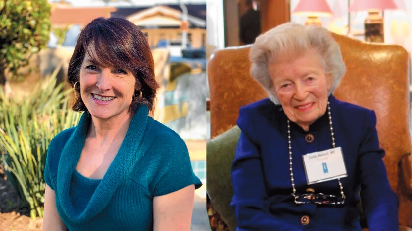 Left: Karen Wilson, executive director of the Doris A. Howell Foundation. Right: The late Dr. Doris Howell.
