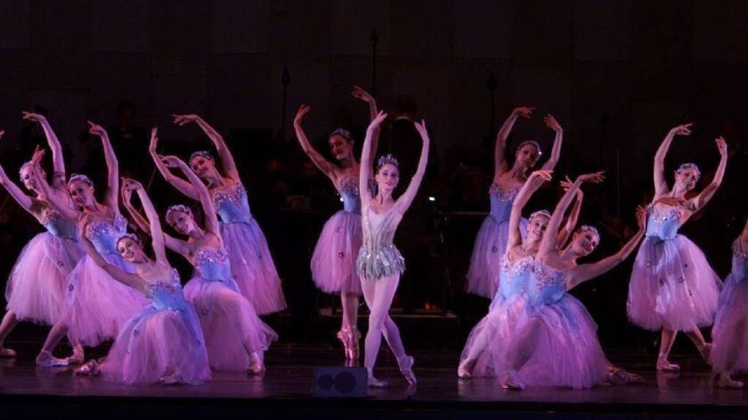 """A 2001 performance of """"The Nutcracker"""" at the Hollywood Bowl."""