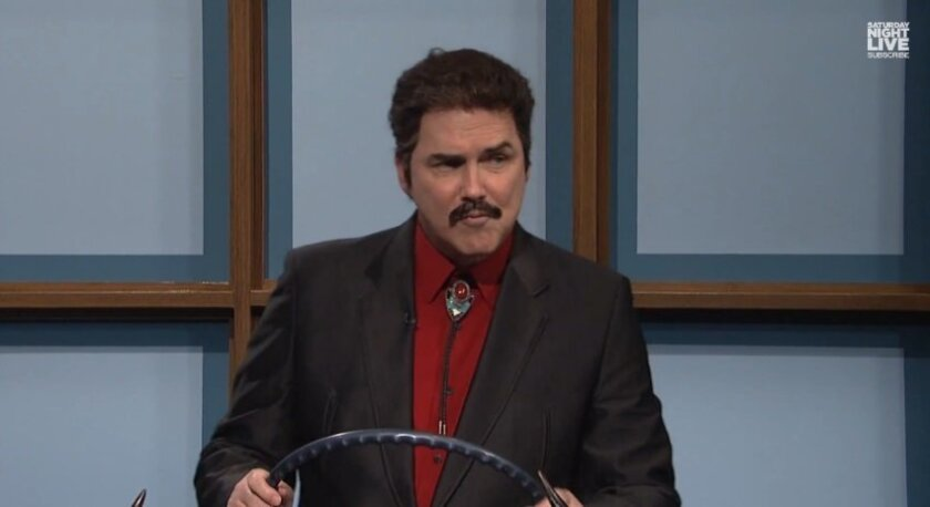 Norm Macdonald as Burt Reynolds in the SNL 'Celebrity Jeopardy' skit at the 40th anniversary special.