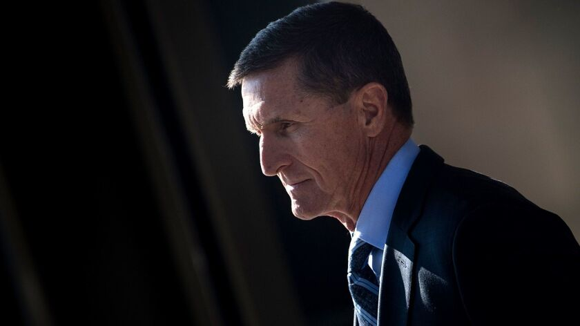 Michael Flynn, former national security advisor to President Trump, leaves U.S. District Court in Washington on Dec. 1, 2017.