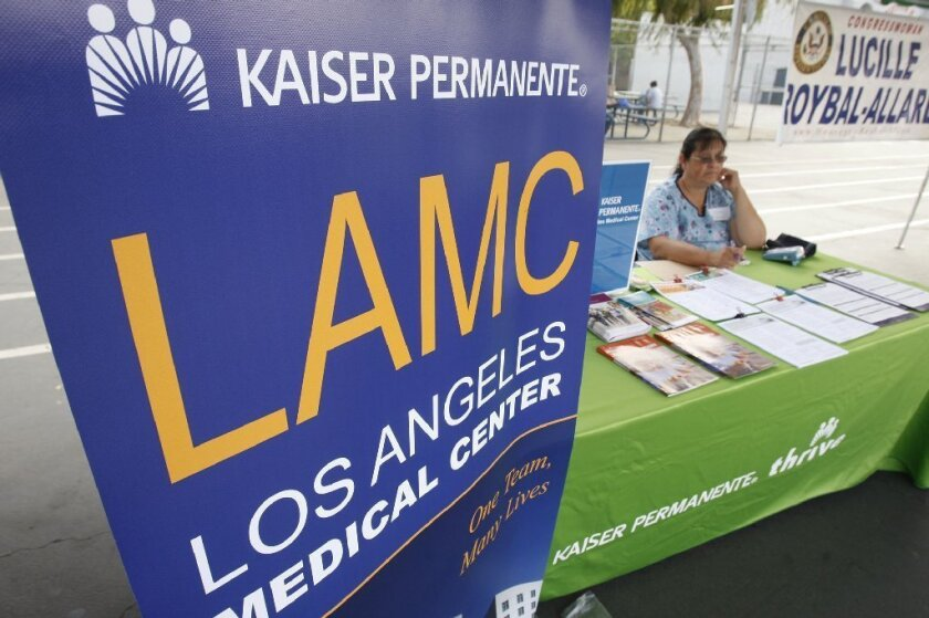 Healthcare giant Kaiser Permanente led the way in customer satisfaction among California health insurers in a new J.D. Power survey.