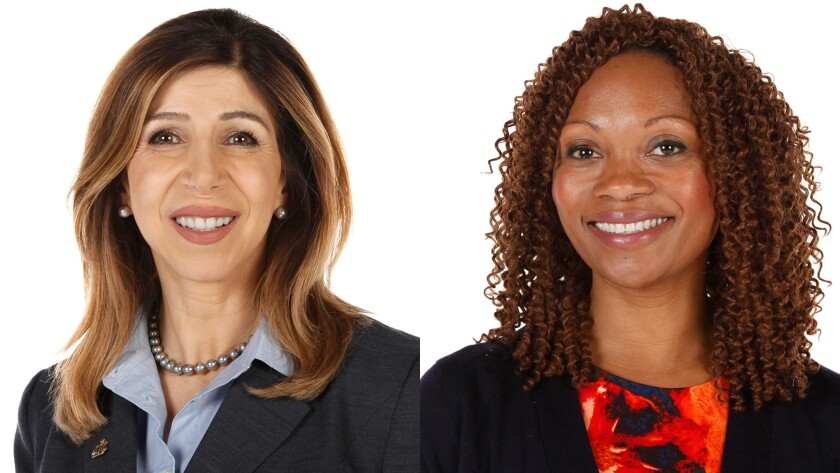 Summer Stephan and Genevieve Jones-Wright, candidates for San Diego County District Attorney.