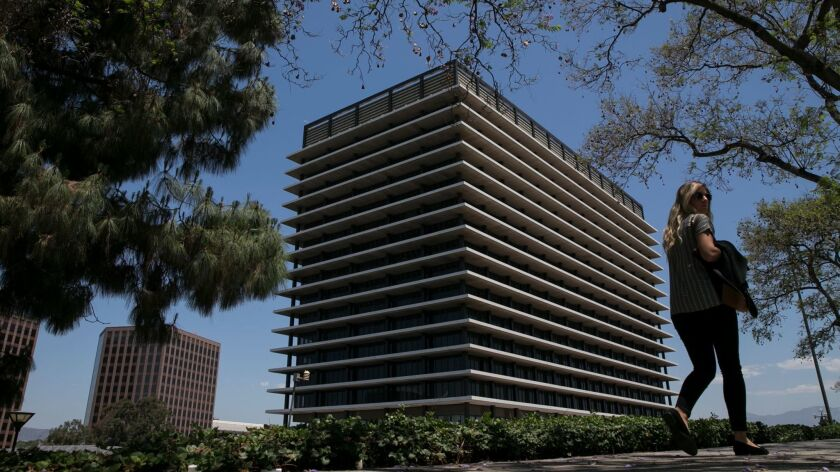 The Los Angeles Department of Water and Power building in downtown Los Angeles.