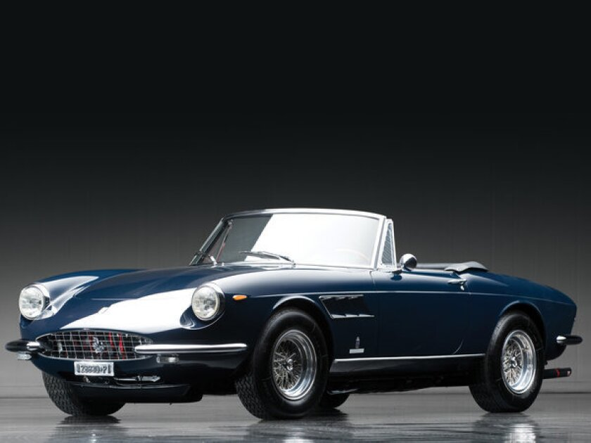 This 1967 Ferrari 330 GTS is one of only 99 made and will be one of 64 cars from the Don Davis collection to go to auction April 27 in Fort Worth, Texas.