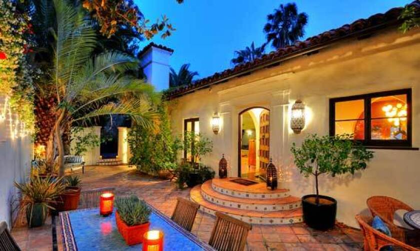Actor Grant Show's house has a courtyard area that extends the living space outdoors.