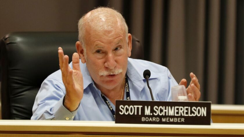 LOS ANGELES, CALIF. -- TUESDAY, SEPT. 26, 2017: Board member Scott Schmerelson votes before as the