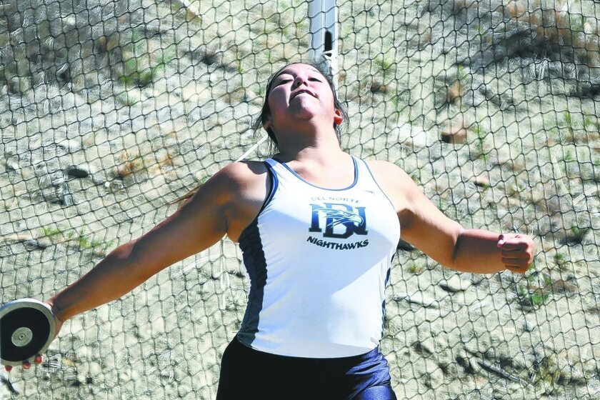 Del Norte junior Michelle Altice ranks fifth in the section in the discus and second in the shot put this spring.