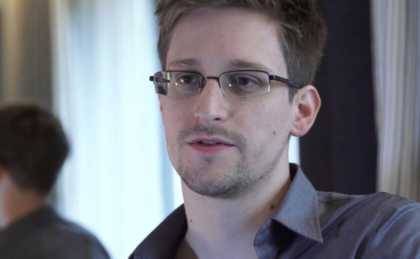 """Former NSA contractor Edward Snowden, whose release of classified documents about surveillance is told in the Oscar-nominated film """"Citizenfour."""""""