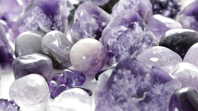 Amethyst crystals for sale at House of Intuition in Highland Park.