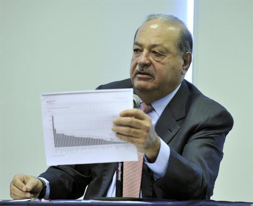 El mexicano Carlos Slim, dueño de Telmex y América Móvil. EFE/ARCHIVO