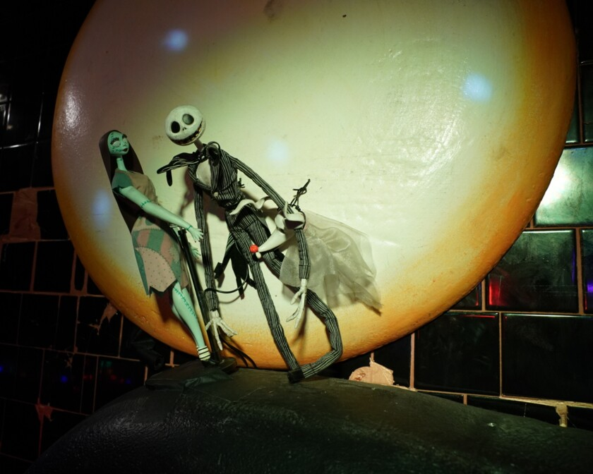 Jack Skellington, Sally and Zero from 'The Nightmare Before Christmas'