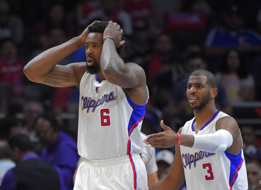 Clippers Coach Doc Rivers says there was no rift between center DeAndre Jordan, left, and guard Chris Paul during the 2014-15 season.