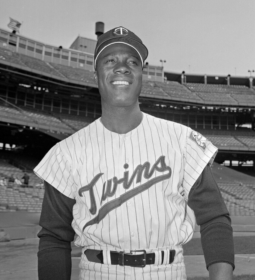 """In this June 21, 1964, file photo, Minnesota Twins pitcher Jim """"Mudcat"""" Grant poses."""
