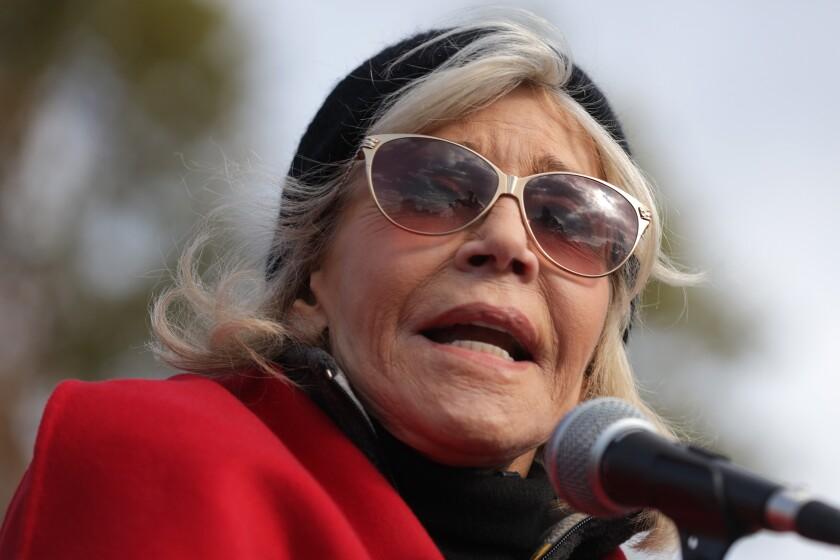 Jane Fonda protests in Washington, D.C.