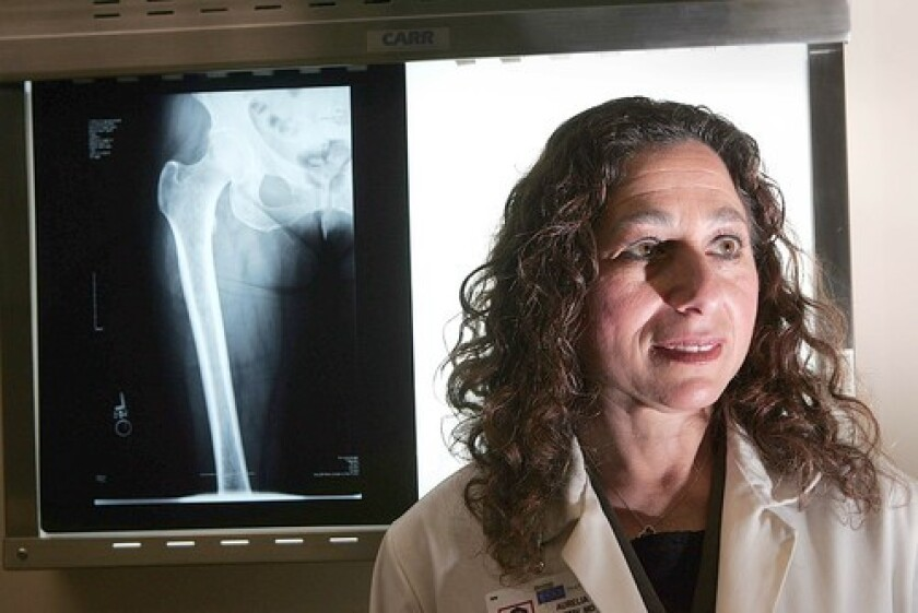 NEUTRAL: Dr. Aurelia Nattiv of UCLA studied track athletes to determine injury risks. She found bone density as a risk factor in both men and women.