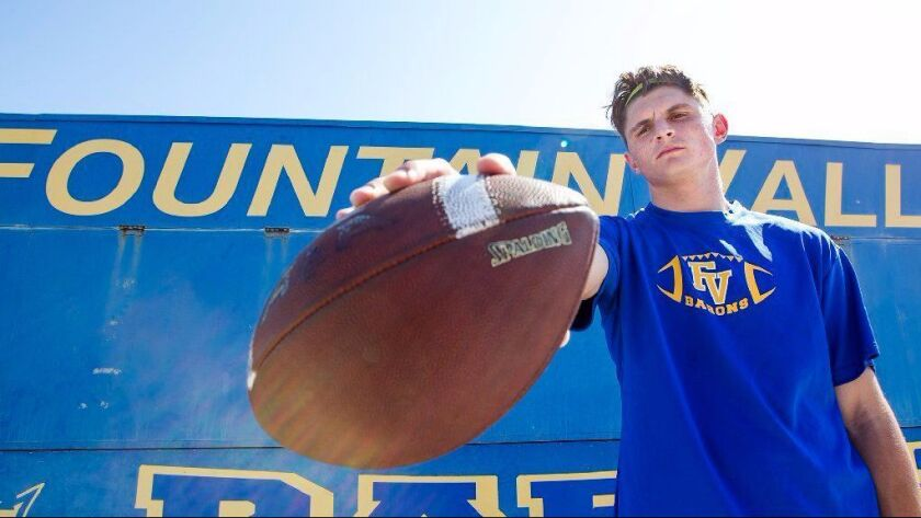 Fountain Valley quarterback Nick Welch is the Daily Pilot Football Player of the Week.