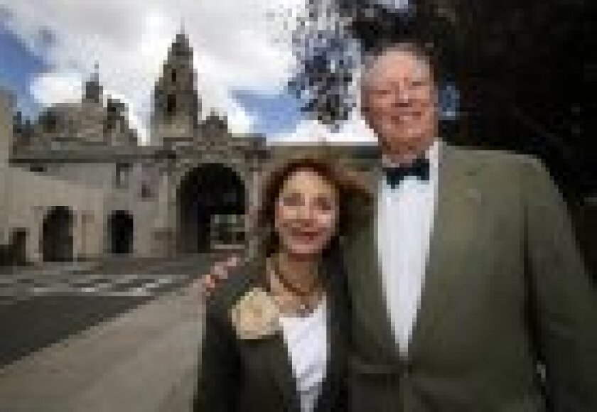 Ben and Nikki Clay, cochairs of the Balboa Park 2015 Celebration