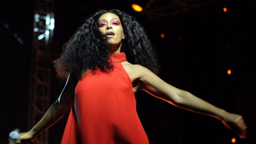 Solange performs at FYF Fest at Exposition Park on Aug. 23, 2015.