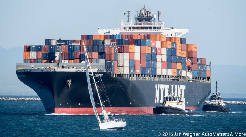 Busy Port of Los Angeles