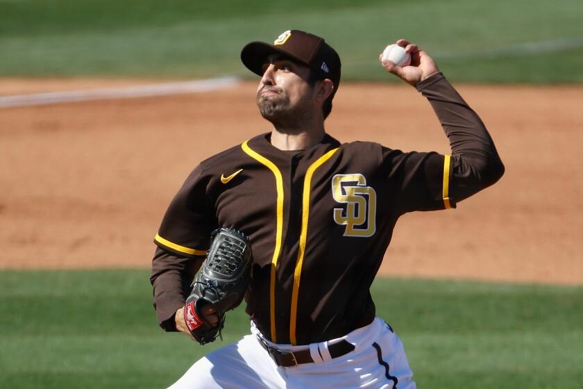 The Padres' Daniel Camarena