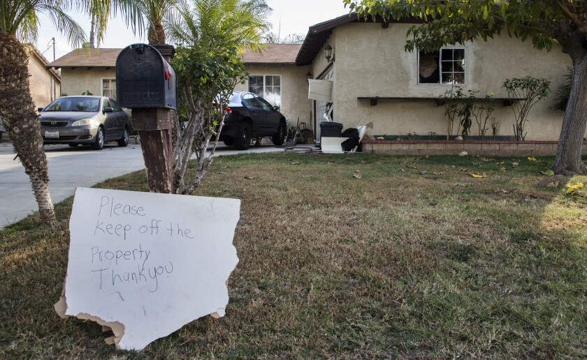 FBI agents on Saturday raided this Riverside home belonging to a friend of San Bernardino shooter Syed Rizwad Farook.