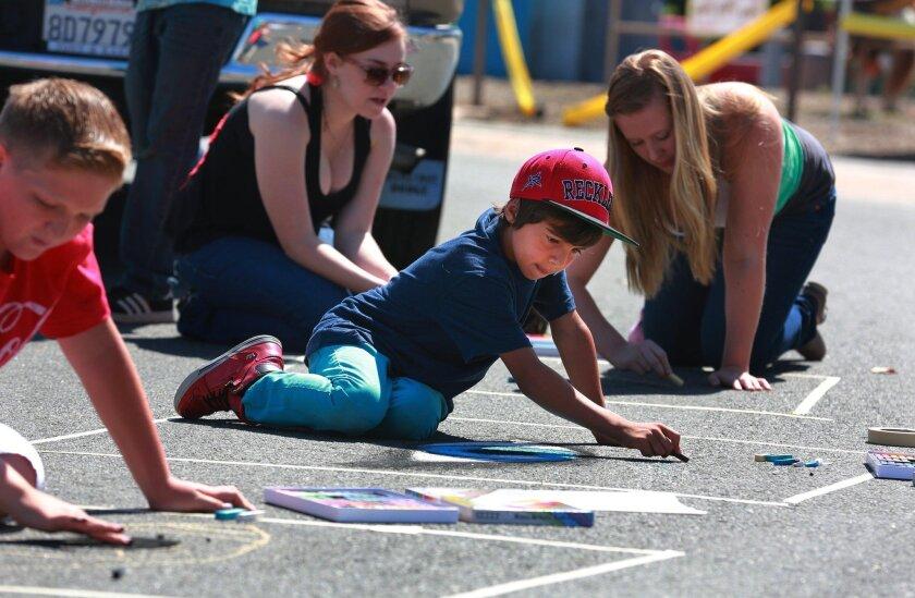 Attendees can create their own mini-murals during the Temecula Street Art Festival.