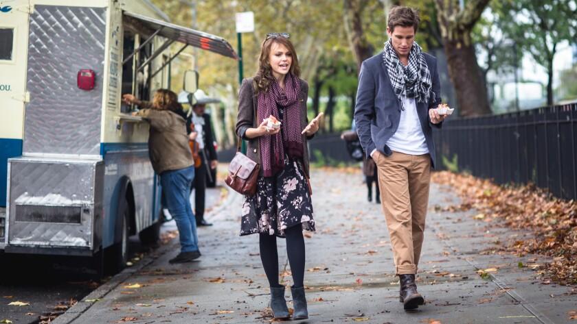 "Aimee Teegarden and Ward Horton in the film ""Bakery in Brooklyn."""