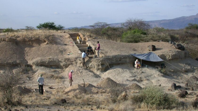images from the prehistoric site of Olorgesailie, Kenya