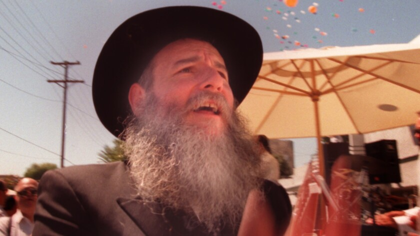 """Rabbi Boruch Shlomo Cunin, seen in 1995, """"treated the grant advances as if they were gifts to Chabad that, once paid by Cal EMA, were no longer the 'business of the government,'"""" a judge wrote. """"Chabad proceeded to use grant funds to pay unauthorized expenses...."""""""