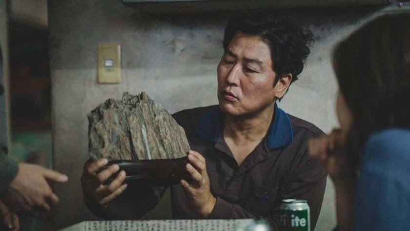 "Kang Ho Song in Oscar best picture winner ""Parasite."""