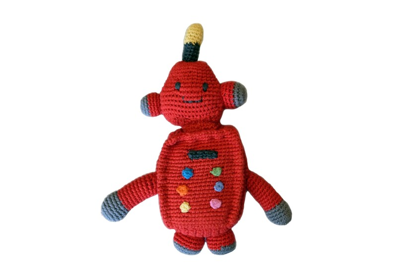 Knit robot rattle